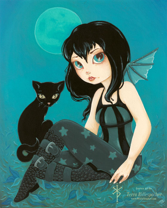 Moonlight Hijinks - Goth fairy 5x7 Print