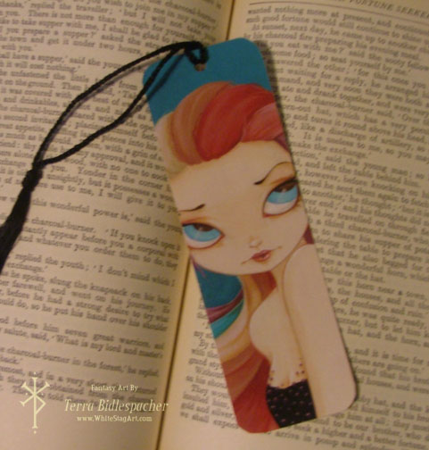 In color - Handcrafted laminated bookmark