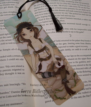Amora -Handcrafted pirate fairy bookmark